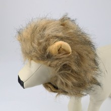 Adjustable Pet Hat For Dogs Cats Emulation Lion Hair Mane Ears Head Cap Scarf Pet Halloween Festival Costume 30