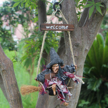Halloween Arrangement Ghost Festival Bar Decoration Horror Scary Hanging Ghost Flying Witch Pendant PSC91