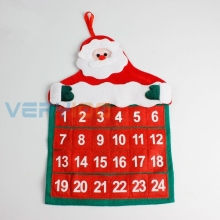 Christmas Advent Calendar Countdown Santa Xmas Gift Pockets Handing Wall  Model Calendary