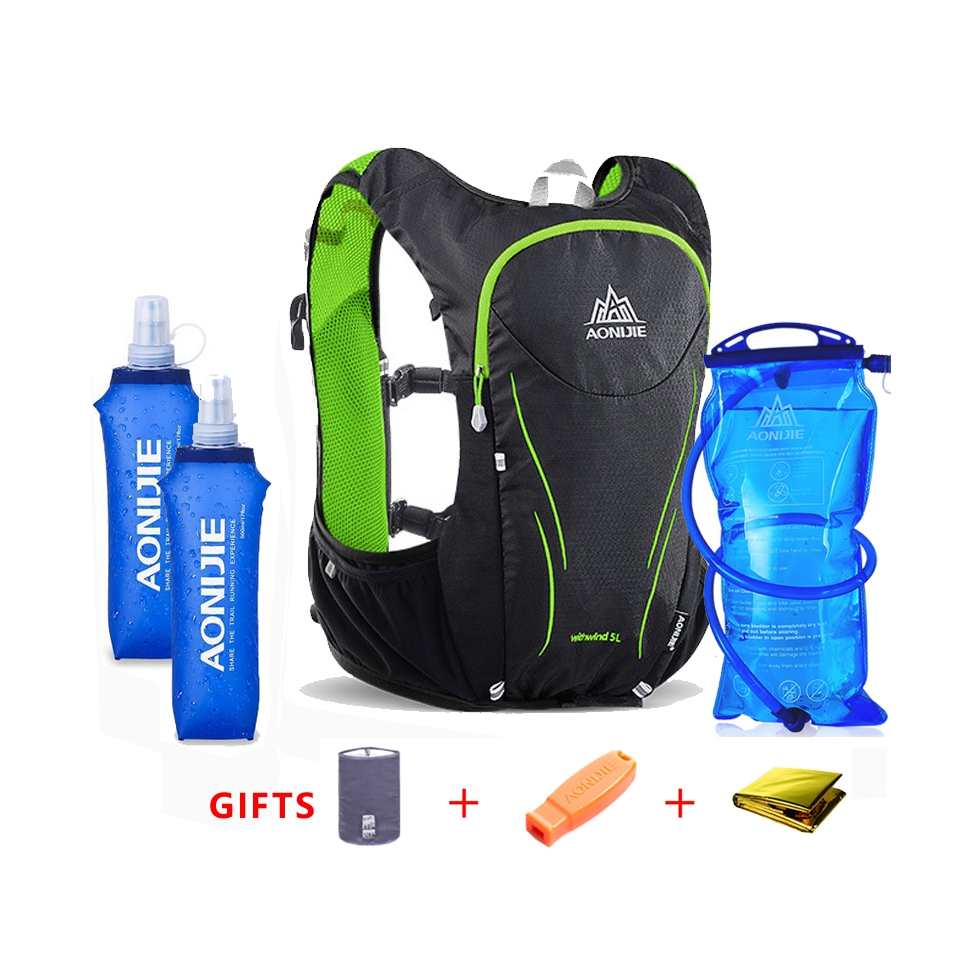 AONIJIE 5L sac à dos de sport de plein air femmes hommes Marathon gilet d'hydratation Pack pour échange cyclisme randonnée sac d'eau - 2