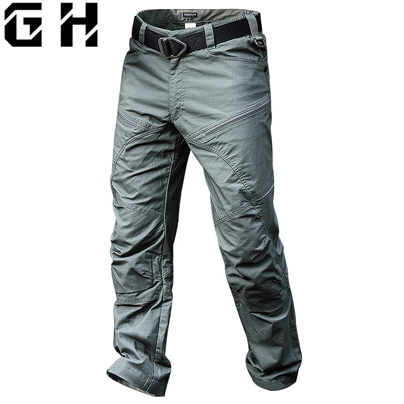Dropshipping Tactical Pants Male Jogger Casual Cotton Trousers Multi Pocket Military Style Army Fans Men's Cargo Pants-in Cargo Pants from Men's Clothing    1