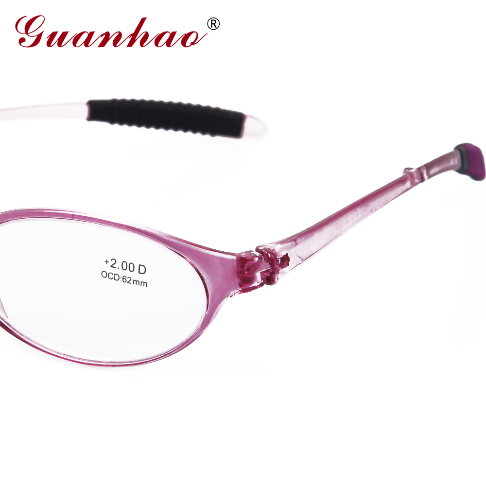 Guanhao Design Fashion Folding Reading Glasses Men Women Round TR90 - Apparel Accessories - Photo 5