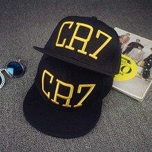 High quality Cristiano Ronaldo CR7 Black Blue Baseball Caps hip hop Sports Snapback Football hat chapeu de Men women adjustable