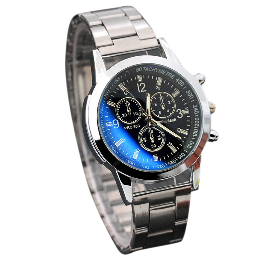 High Quality NEW Wristwatch Mens Stainless Steel Sport Quartz Hour Wrist Analog font b Watch b