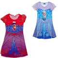 2016 NEW Design Girls Princess Dress,Elsa Anna Nightgown Nightdress,Girl sleepwear,Children Clothes,Kids Pajamas Customs Cloth