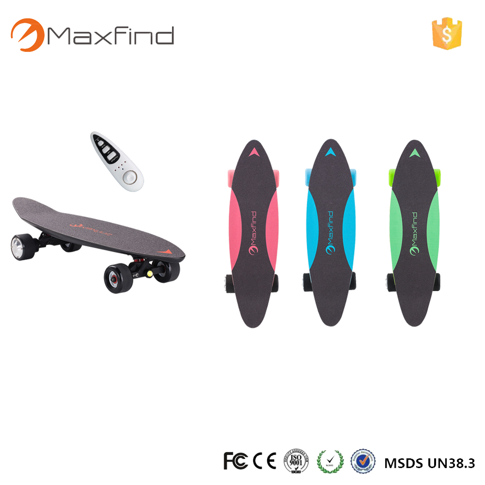 Maxfind 2017 penny board electric skateboard one motor 500w carbon fiber four wheels 70mm colorful for Christmas ...