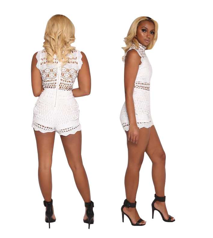 b781ff368b2c Hollow Out Party Club Women Lace Playsuit Sexy Mini Macacao Feminino  Overalls Body Rompers Bodysuit Summer Skinny Clothing-in Rompers from  Women s Clothing ...