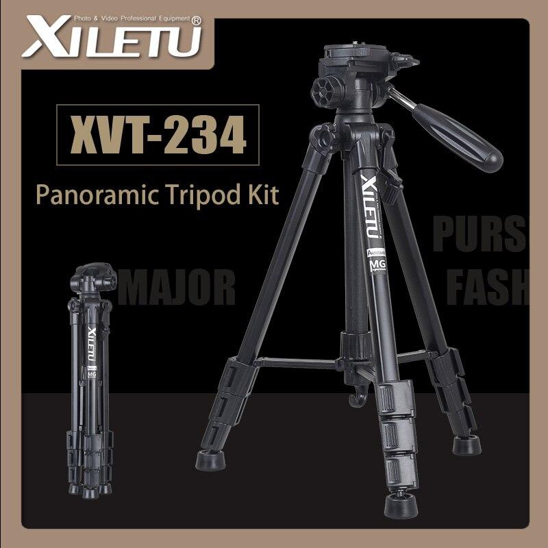 Tripods Inventive Xiletu Xvt-234 Professional Portable Aluminum Panoramic Camera Video Tripod For Digital Camera Camcorder For Canon Nikon Sony