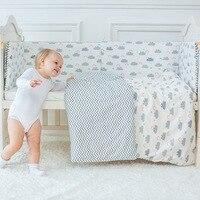 Bebek Yatak Seti Sevimli Bulut Desen çocuk Yatak Keten Incluiding yorgan Yastık Karyola Tampon Için Çarşaf Pamuk Beşik Seti çocuklar