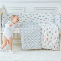 Baby Bedding Set Cute Cloud Pattern Children S Bed Linen Incluiding Quilt Pillow Cot Bumper Bed