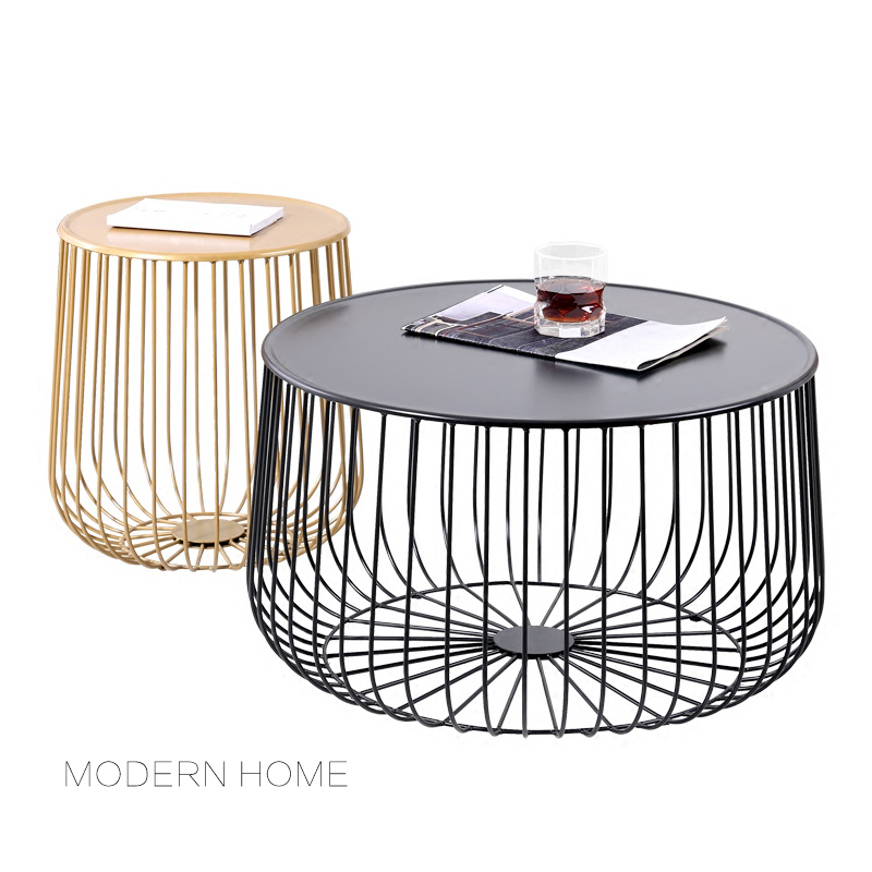 Gold Metal Round Coffee Table.Us 188 0 Popular Modern Design Pumpkin Black And Gold Metal Round Tea Table Living Room Side Coffee Table End Table Size Customize 1pc In Coffee