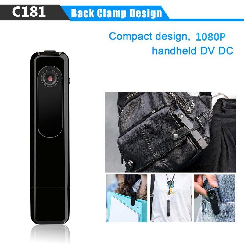 C181 Mini Kamera Wearable Volle HD 1080 p Stift Kamera Video Audio Recorder H.264 Mini DV Camcorder Mit Einzel Voice aufnahme
