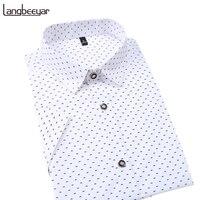Hot 2017 Summer New Fashion Brand Clothing Men Short Sleeve Shirt Polka Dot Slim Fit Shirt