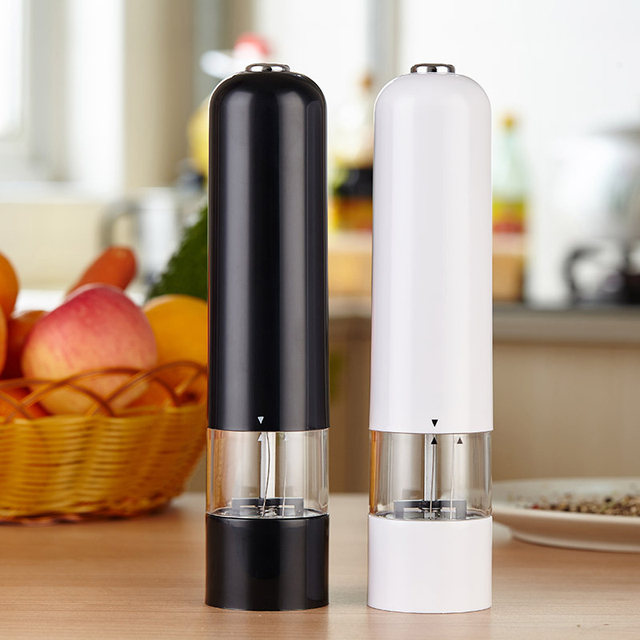 Battery Operated Salt and Pepper Grinder,  Adjustable Coarseness, Electronic Ceramic Core Shakers