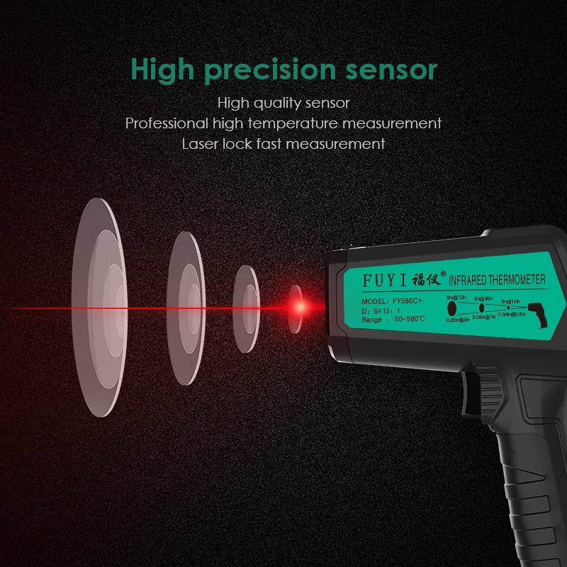 Image 3 - Бесконтактный термометр цифровой инфракрасный термометр  бесконтактный температурный пистолет лазерный ручной ИК темп пистолет  цветной ЖК дисплейПриборы для измерения температуры   -