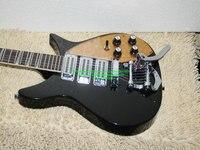 Personalizado negro 325 330 Guitarras golpeador dorado 325 330 Custom 3 pastillas eléctrica Guitarras bigbys envío libre