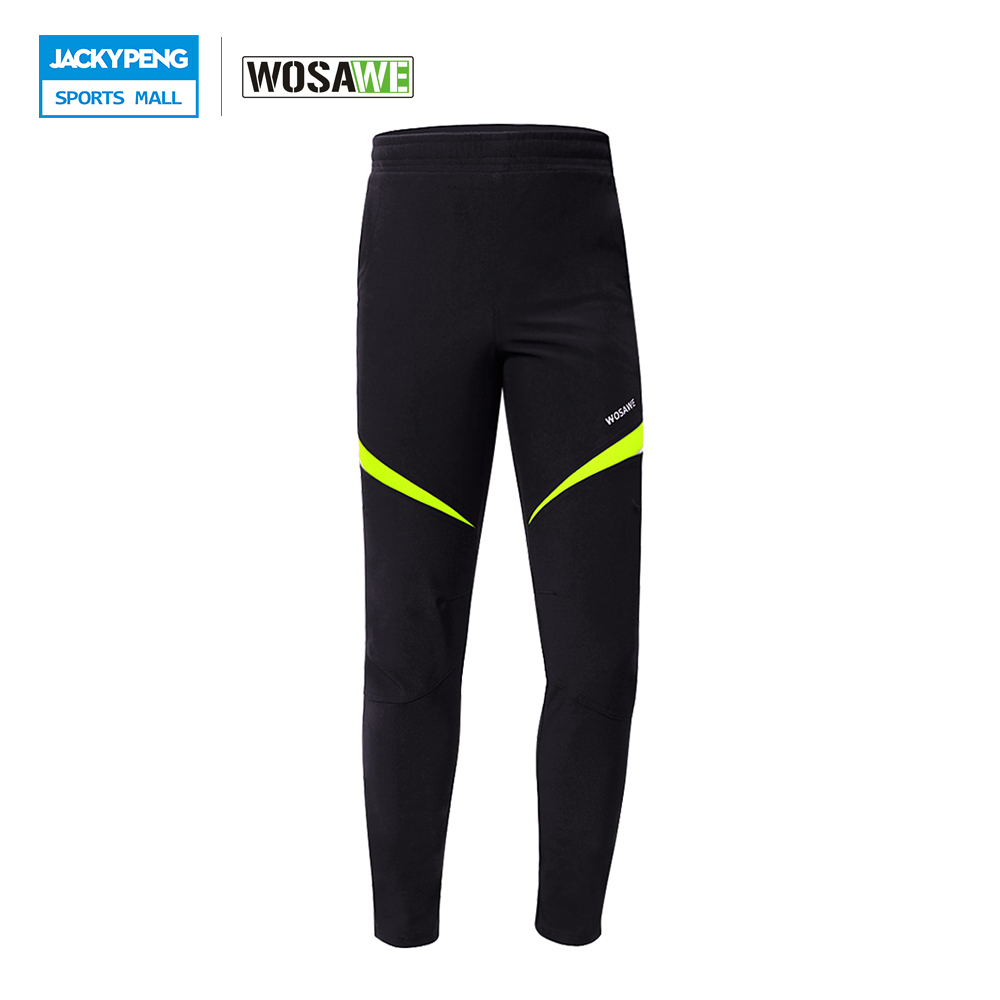 WOSAWE Men Fleece Thermal Cycling Pants Winter Windproof Waterproof Tights & Pants Bicycle MTB Road Bike Clothing Sportswear цены