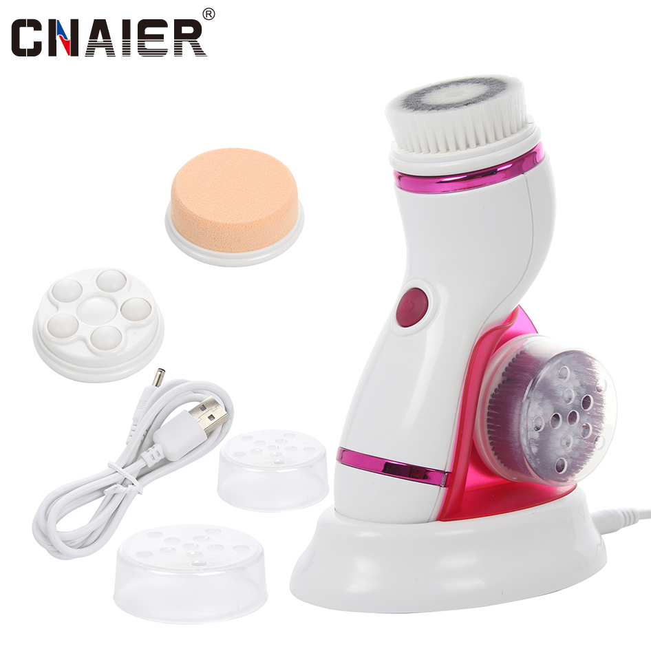 [CNAIER] Electric Facial Cleansing Brush Massager Rechargeable Pore Face Cleaning Device Personal Care Brush For Face AE-8286B
