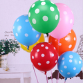 """2016 Caliente 12 """"10 unids 12 Colores Polka Dot Globo de Látex Decoración Decoración Con Globos para la Fiesta de Cumpleaños de La Boda Niños Niño Juguetes"""