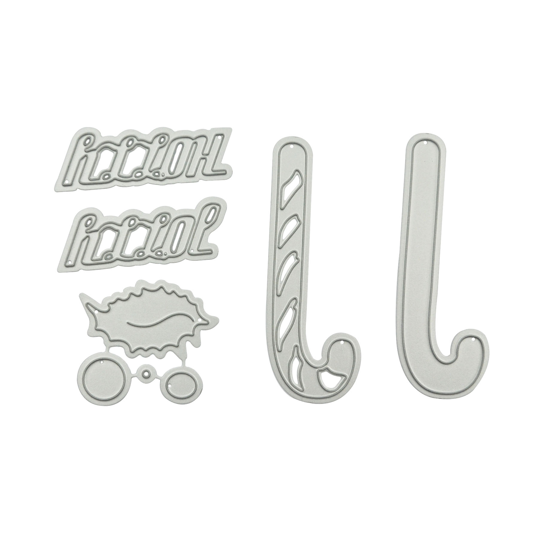 Happymems Christmas Dies Crutch Card Making Stencil Metal Cutting Dies Scrapbooking Silver DIY Words embossing Crafts in Cutting Dies from Home Garden