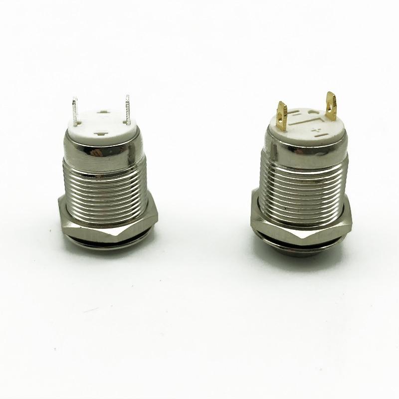 1 шт. 12 мм металлическая кнопка переключатель Блокировка с фиксацией/Самостоятельная моментальная Перезагрузка водонепроницаемый нажмите точку, плоская головка и высокая головка