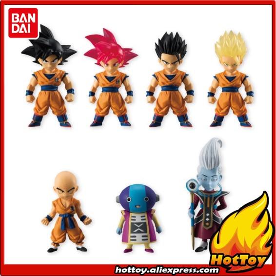 100% Original BANDAI ADVERGE 05 Toy Figure - Set of 7 Pieces Goku Whis Gohan Krillin Zen-Oh