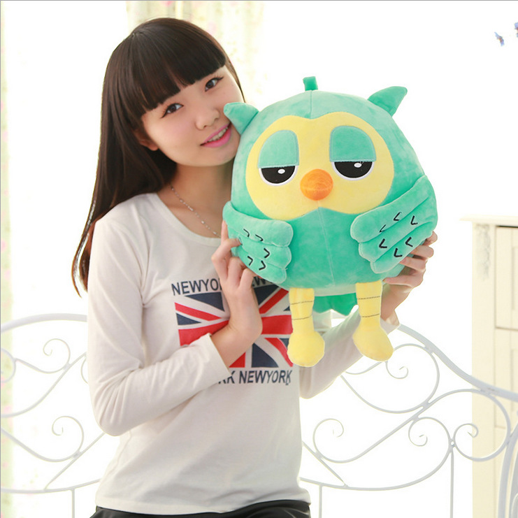 1pc 12cm Or 20ccmpopular Night Owl Plush Toy Baby Toys Stuffed Animal Doll 2 Colors Soft Baby Birthday Gifts Kids Toy Invigorating Blood Circulation And Stopping Pains