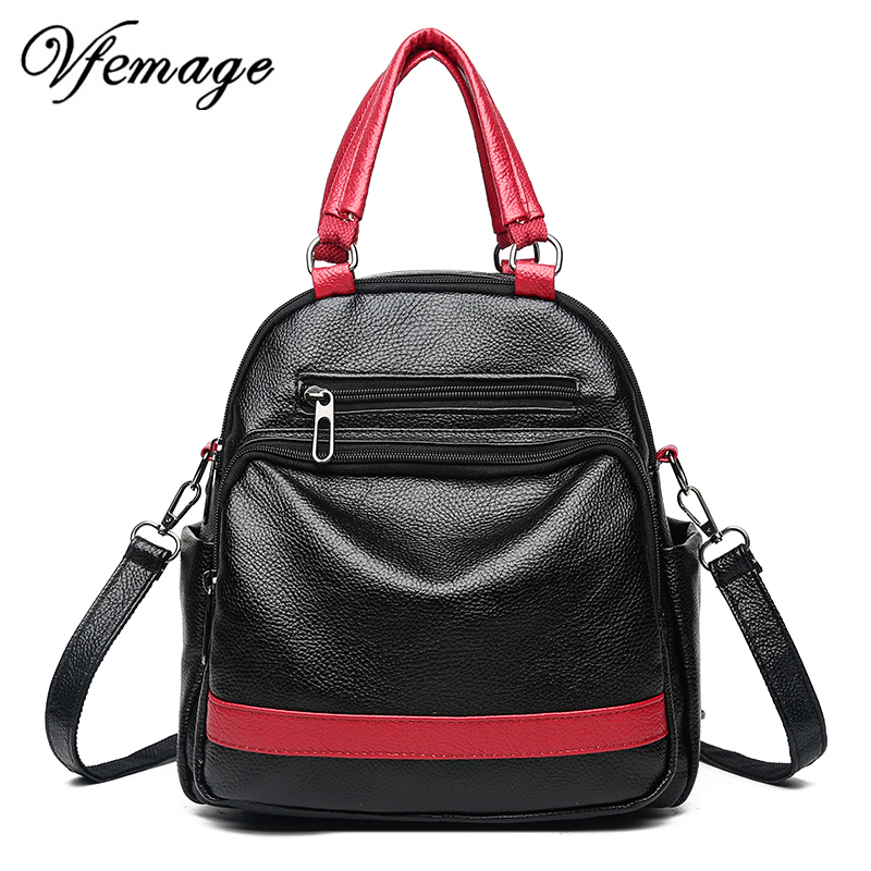 Vfemage New Luxury Backpack Women Leather Backpack Fashion Small Backpack Multifunction Bagpack Mini Bookbag for Girls Sac A DosVfemage New Luxury Backpack Women Leather Backpack Fashion Small Backpack Multifunction Bagpack Mini Bookbag for Girls Sac A Dos
