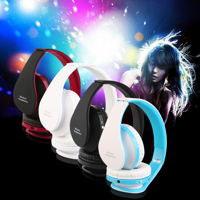 2016 newest Foldable Wireless Bluetooth Headset Stereo Over Ear Headphone Earphone hot sale