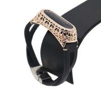 Für mi Band 3 Armband Lederband mit Metall Shell für Xiao mi mi Band 3 Armband Ersetzen Strap für mi Band 3 Zubehör