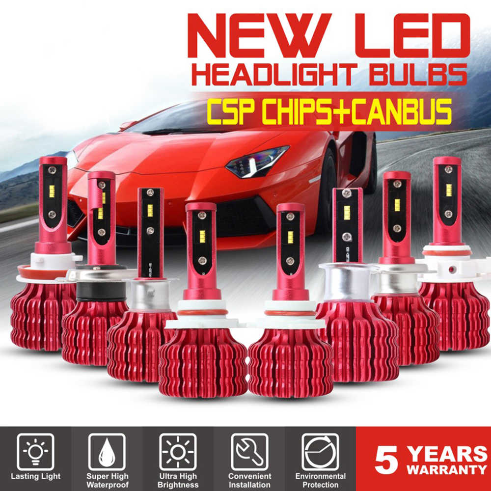 H1 H7 H11 9005 9006 H4 10000LM 100W LED Car Headlight Kit Turbine Bulb CANBUS 6500K Headlight Bulbs