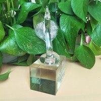 Sacred cobra quartz statue beautiful home decoration glass trophy crafts feng shui good luck