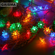 5M 40 Bulbs Flower Fairy Lights LED Christmas Garland String Lights Floral Wedding Decoration For Holiday Home Party Lighting