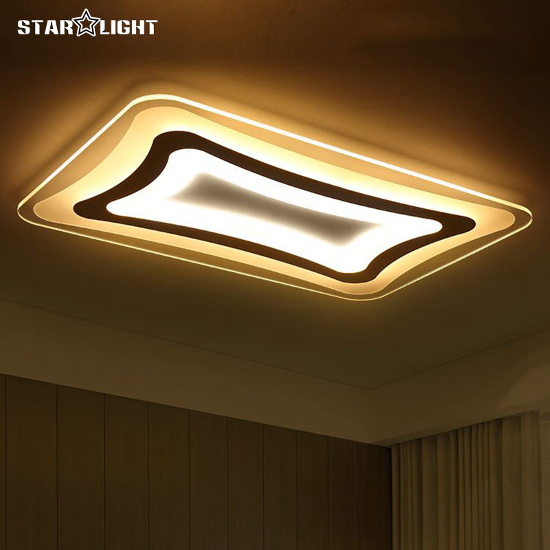 Modern LED Ceiling Light Square Rectangle Living Room Lamp Acrylic New Energy Efficient Home Luxury Decor Lighting In Lights From