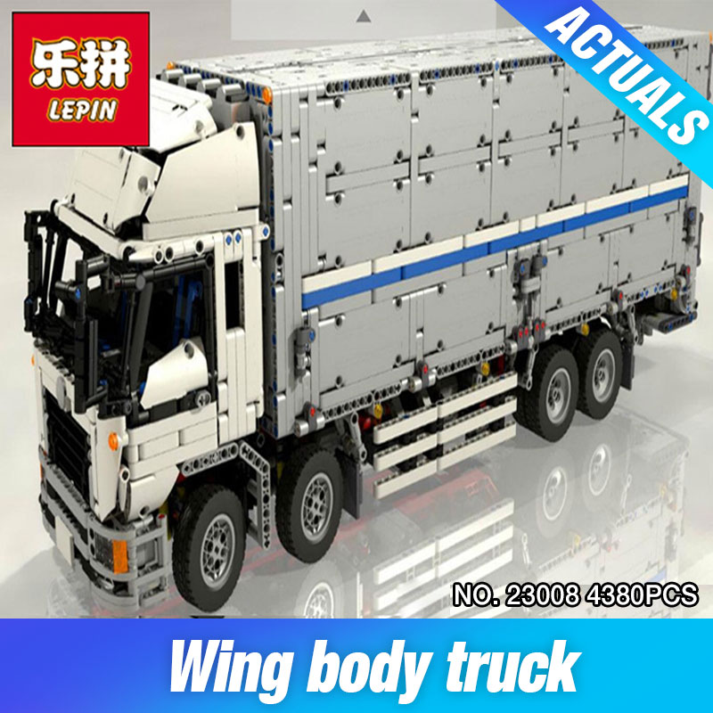 New Lepin 23008 4380Pcs Technical Series The MOC Wing Body Truck Set 1389 Educational Building Block Bricks Children Toys Gift 23008 4380pcs technical series the moc wing body truck set compatible with 1389 educational building blocks children toys