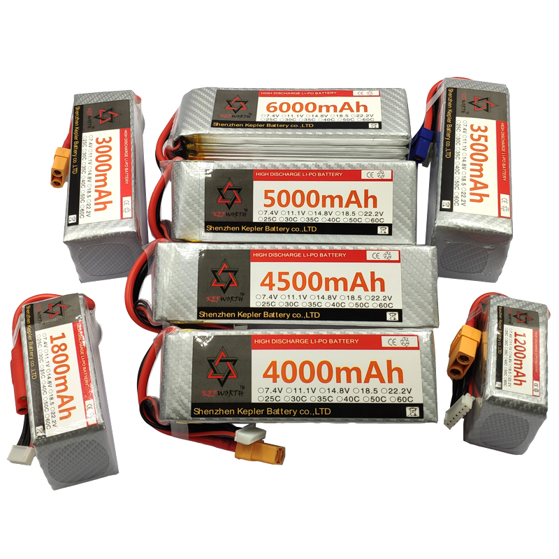 22.2V <font><b>6S</b></font> 1300 1800 2200 2600 3000 3000 3500 3800 5000 <font><b>6000mAh</b></font> 60C <font><b>6S</b></font> RC Toys <font><b>LiPo</b></font> Battery For Helicopter Airplane Plane Car Boat image
