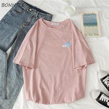 T-shirts à manches courtes et col rond pour femme, vêtements imprimés, simples, à la mode, Style coréen, Harajuku, pour étudiantes