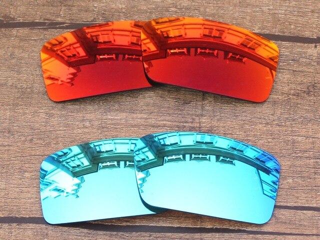 1235de7f5c4f9 Red Fire   Ice Blue 2 Pares de Lentes de Reposição Para óculos Gascan  Polarizada Pequeno