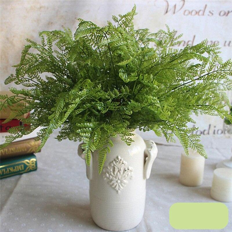 1 unids 30 cm Plantas Artificiales De Plástico Hoja Verde DIIY Casa Falsa Decora