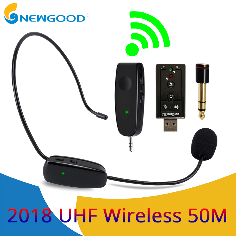 Microphones professional uhf wireless microphone headset mic systems for churches teaching stage voice amplifier speaker