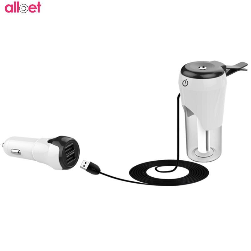Aromathérapie brumisateur brumisateur monté sur véhicule humidificateur Mini double USB purificateur d'air chargeur de voiture double USB chargeur de voiture auto Oxyge