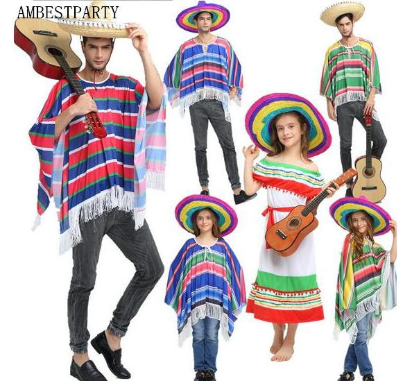 Costume For Halloween 2020 Hawaii Hot 2020 Halloween Cosplay Costumes Kids Adult Mexican Clothing