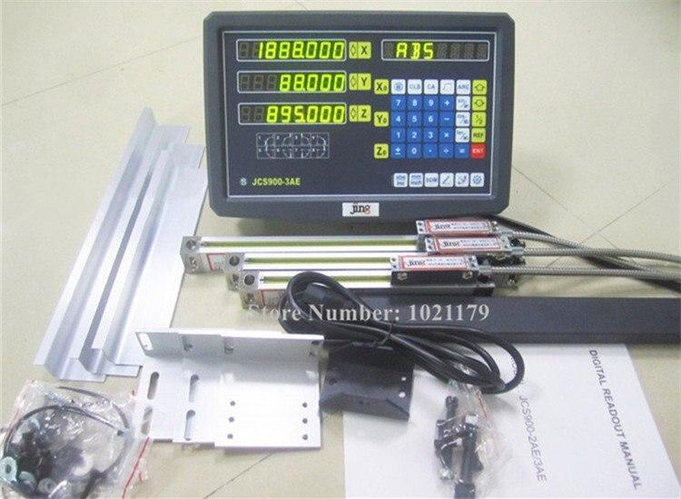 Nouveau Fraisage Tour Ennuyeux Grinder Machine DRO Kits 3 Axes de Lecture Numérique avec Échelle Linéaire 100-1000mm 5 micron Linéaire Codeur