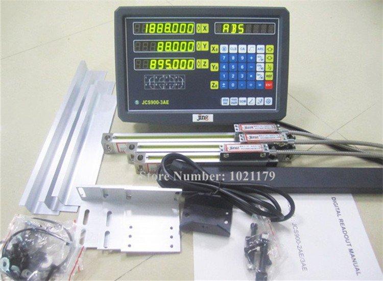 Nuovo Fresatura Tornio Noioso Macchina Smerigliatrice Kit DRO 3 Assi Lettura Digitale con Scala Lineare 100-1000mm 5 micron Encoder Lineare
