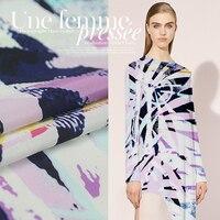 El cliente para el 2016 Francés de arte impresión de la tela de seda de tela de seda de la marca grandes pedidos