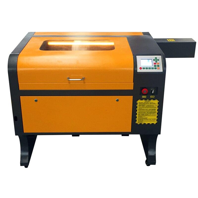 Linha-off de trabalho co2 ruida 4060 80 w l couro madeira acrílico máquina de corte de gravação a laser de cristal de vidro CO2 a laser