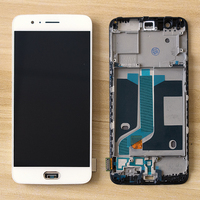 Original 5.5 AMOLED LCD For Oneplus 5 LCD Display Touch Screen Frame For Oneplus 5 Screen One Plus 5 LCD A5000 Replacement