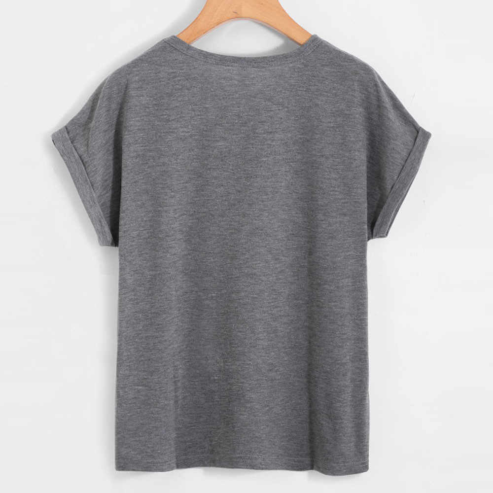 הדפסת חולצה נשים 2019 חדש אופנה אננס הדפסה זול חולצה o צווארון קצר שרוול גבירותיי חולצה vestidos דה festa