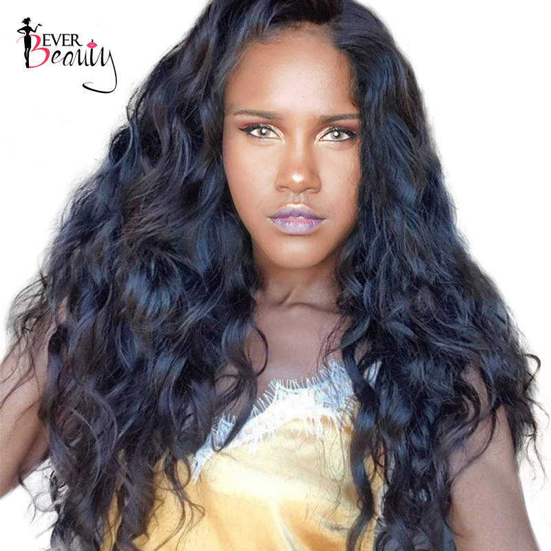 250% Density Lace Front Human Hair Wigs For Women Natural Black Color Brazilian Lace Front Body Wave Wig Remy Hair...