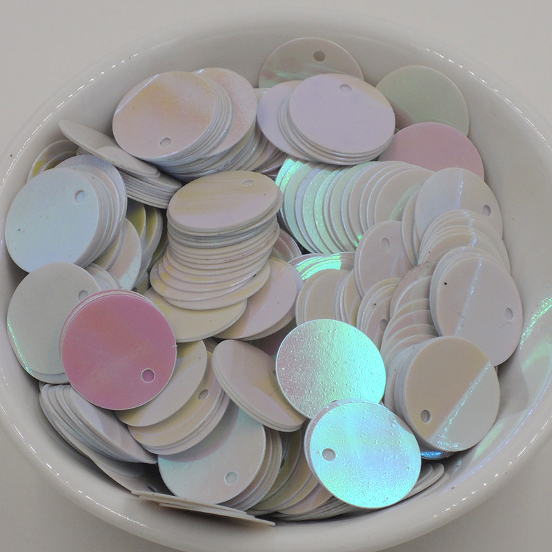 approx. 1000 pcs 30g x 10mm Flat Disc Sequins Select from 10 Colours
